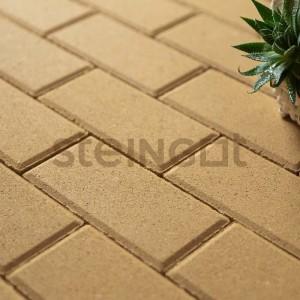 Тротуарная плитка Брусчатка 200*100*40 Желтая (полный прокрас)
