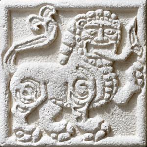 Барельеф «Царственный лев» 80532